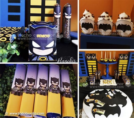 Kit imprimible Batman Todo Bonito