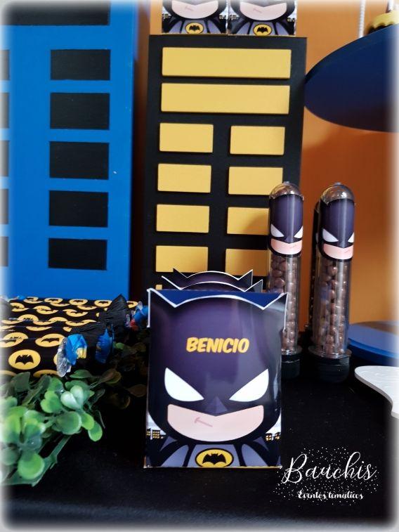 Caja cubo con Kit imprimible Batman Todo Bonito