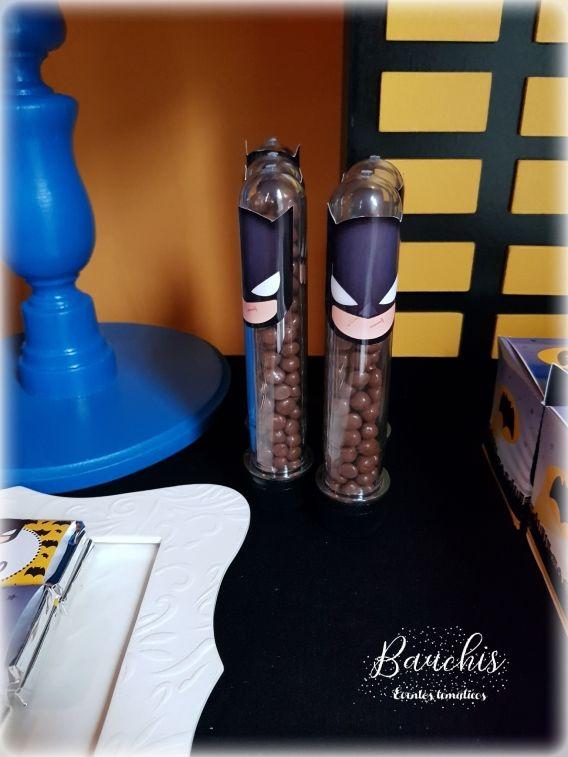 Tubos con confites Batman Todo Bonito