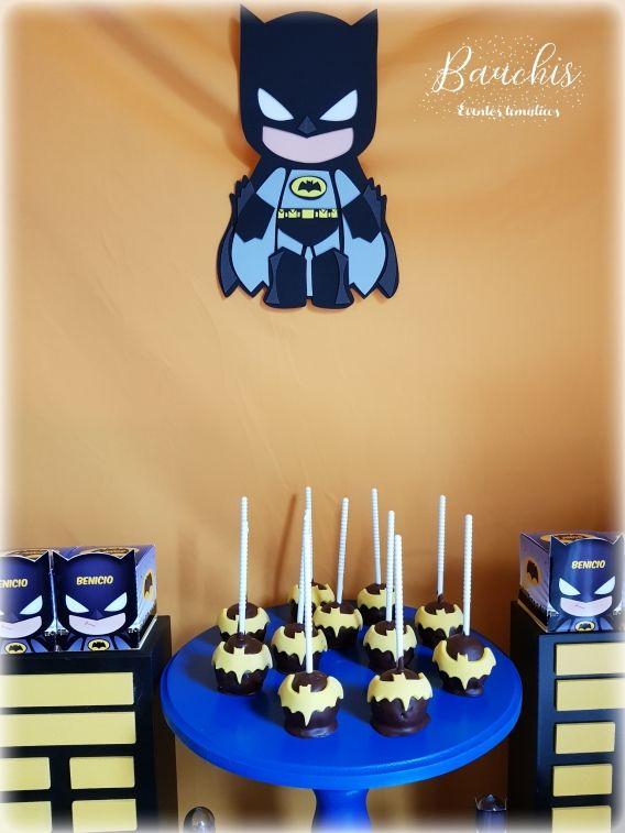 Cakepops y deco Batman Todo Bonito