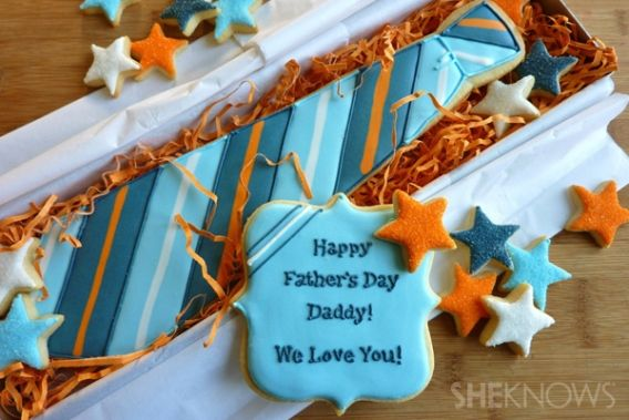 Galleta corbata para el Día del Padre