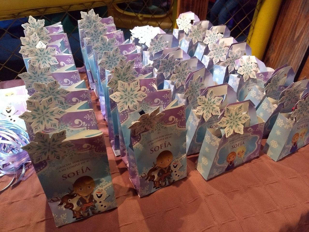 Carteritas y bolsitas Kit imprimible Frozen Todo Bonito