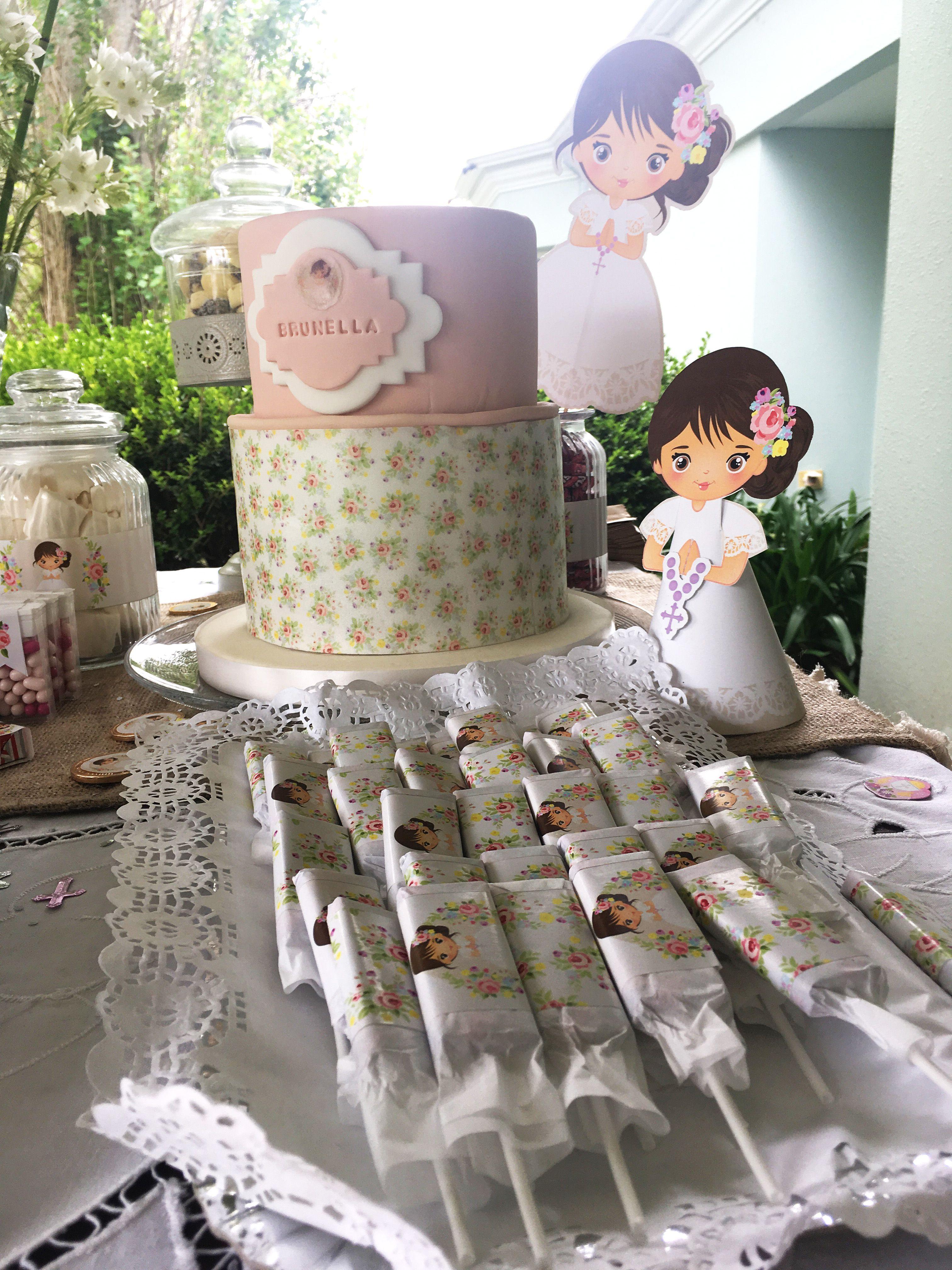 Torta y delicias decoradas con Kit Juana Todo Bonito