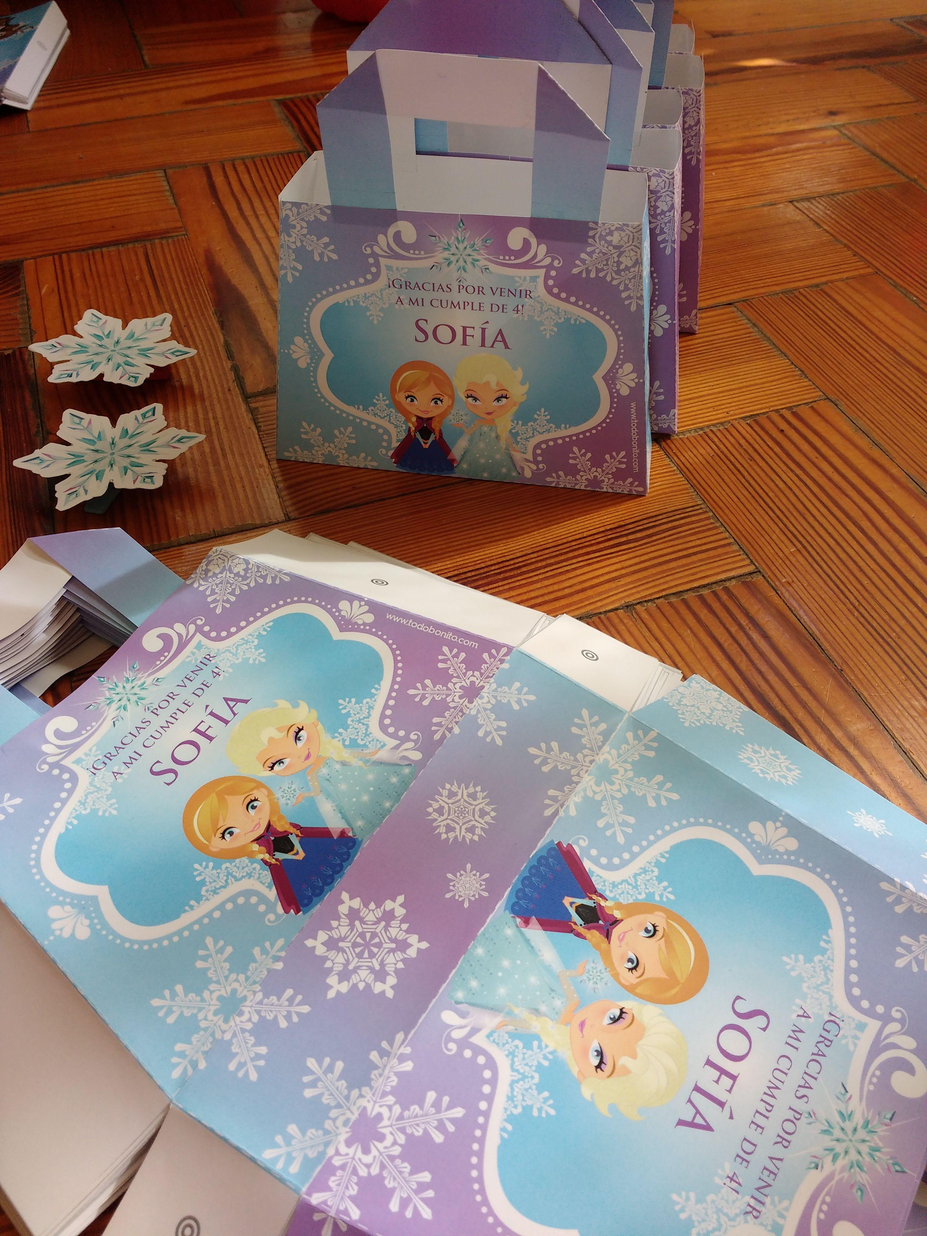 Armado de carteritas Kit imprimible Frozen Todo Bonito