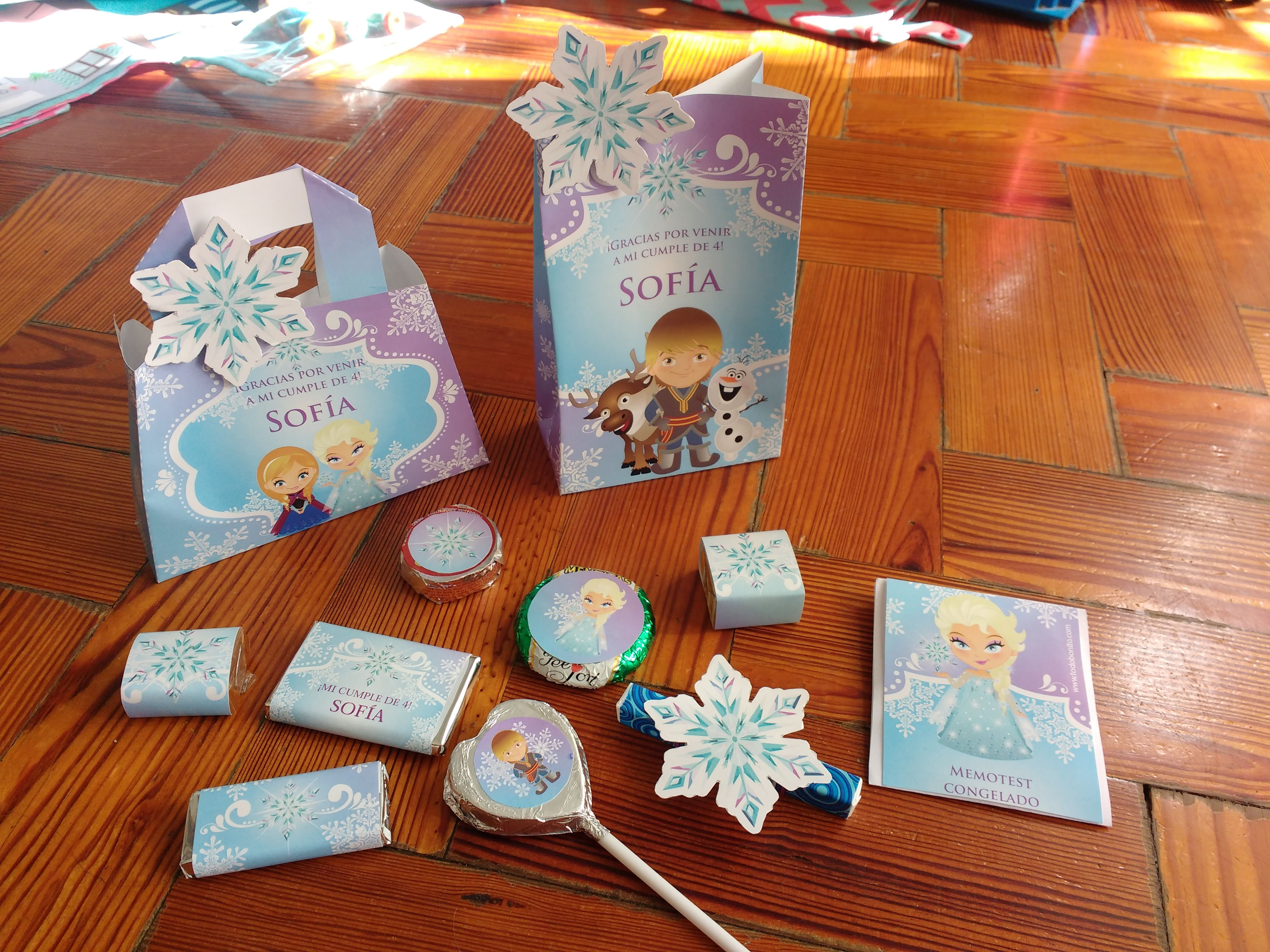Golosinas y bolsitas Kit imprimible Frozen Todo Bonito