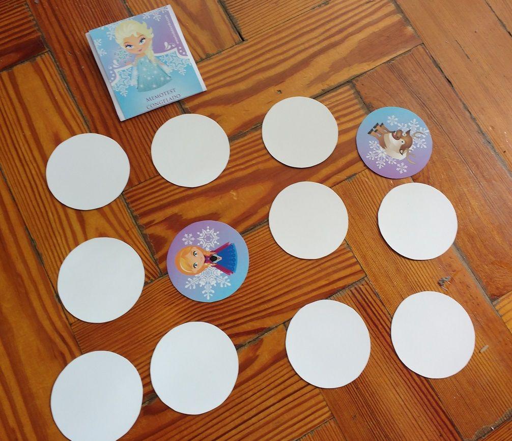 Memotest creado con Kit imprimible Frozen Todo Bonito