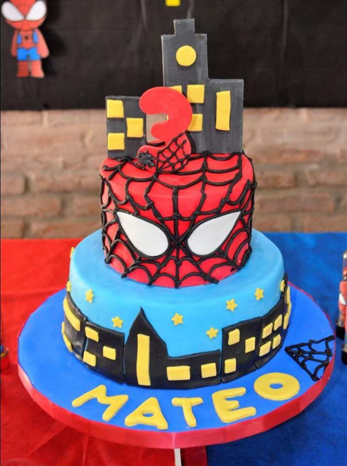 Torta cumple Mateo Hombre Araña Todo Bonito