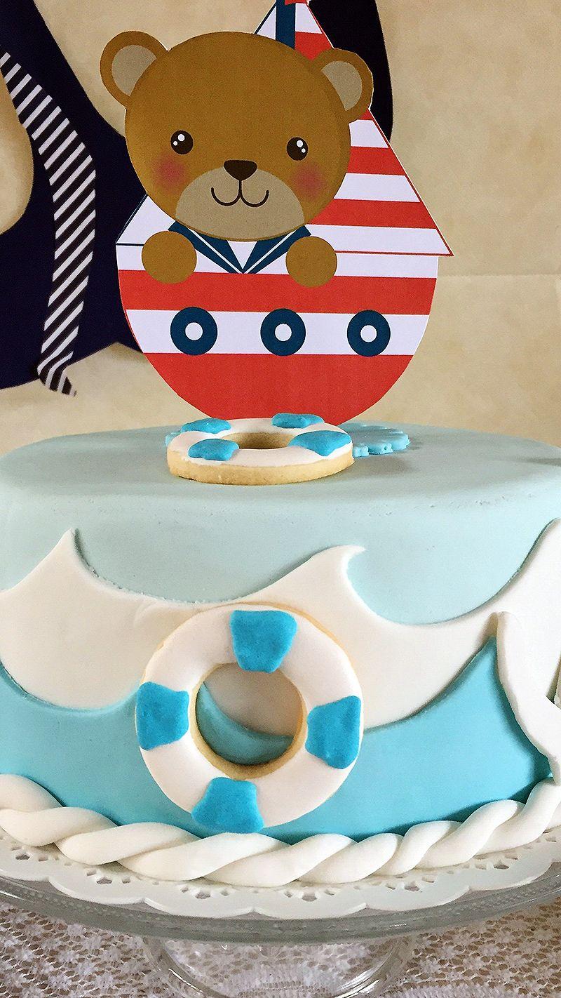 Torta estilo Naútico para Baby Shower