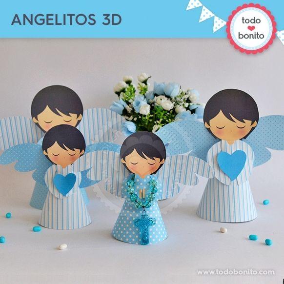 Angelitos 3D Kit Imprimible Alitas Celestes Todo Bonito