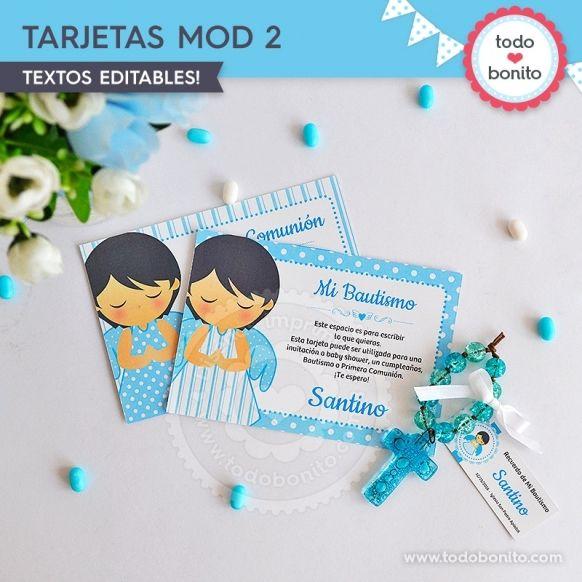 Tarjeta Modelo 2 Kit Imprimible Alitas Celestes Todo Bonito