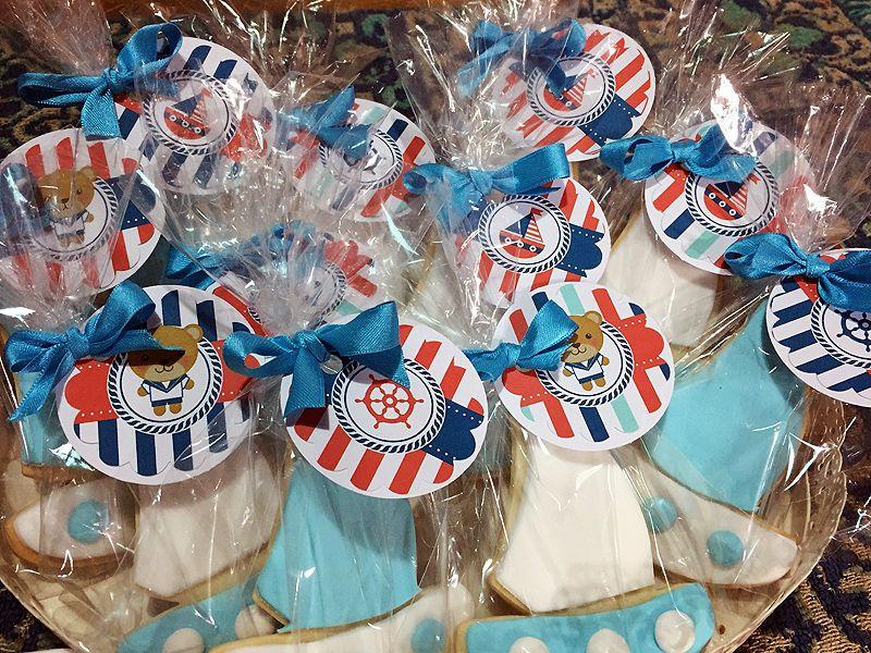 Cookies estilo Naútico para Baby Shower