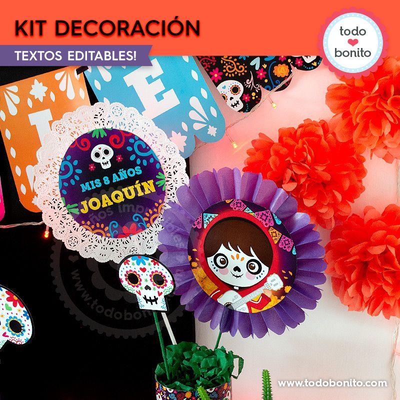 Kit Imprimible de Coco por Todo Bonito