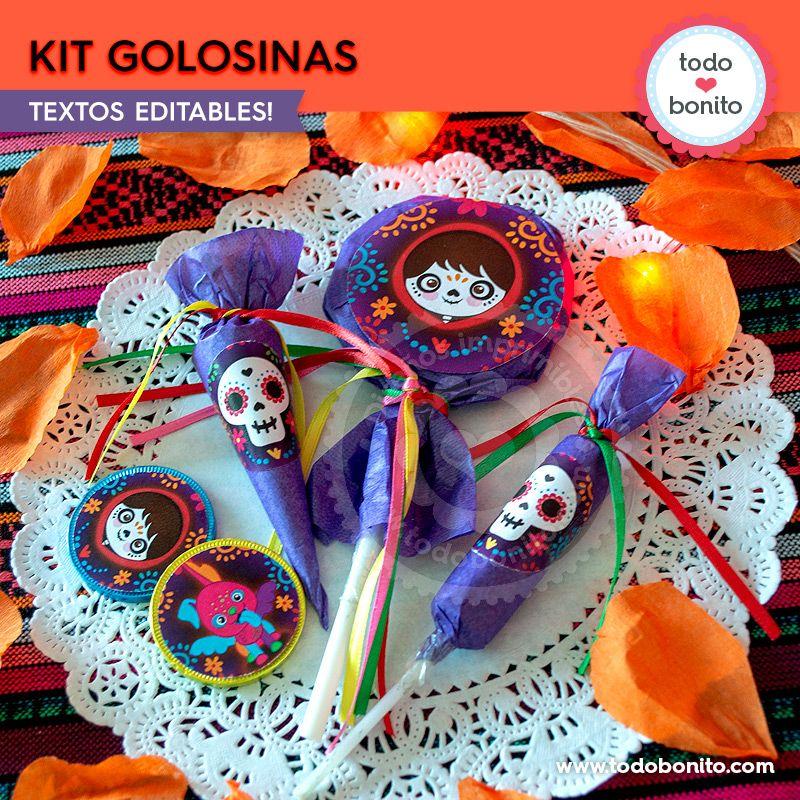 Kit Imprimible de etiquetas de Coco