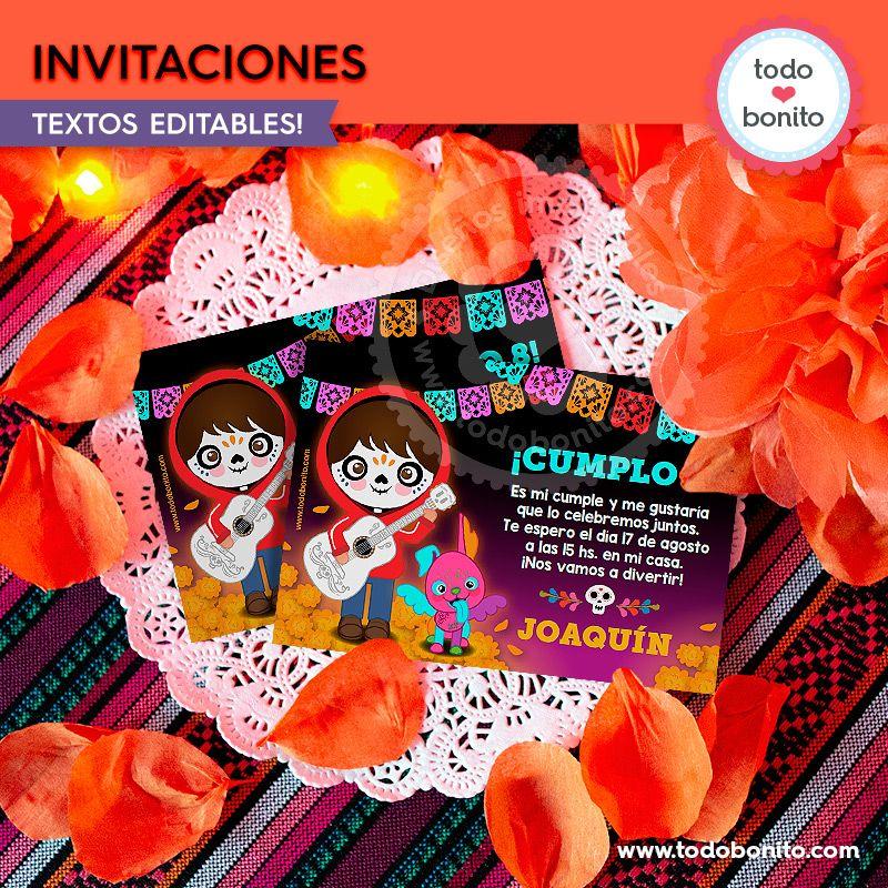 Invitaciones Imprimibles de Coco