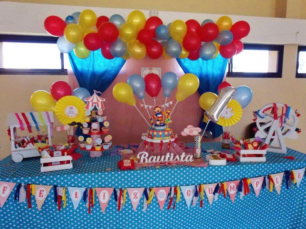 Cumpleaños de Circo primer añito