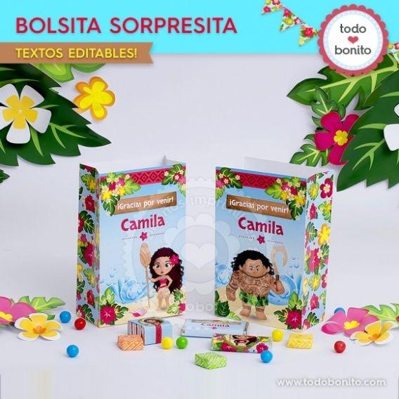 Bolsa sorpresita Kit imprimible Moana Todo Bonito
