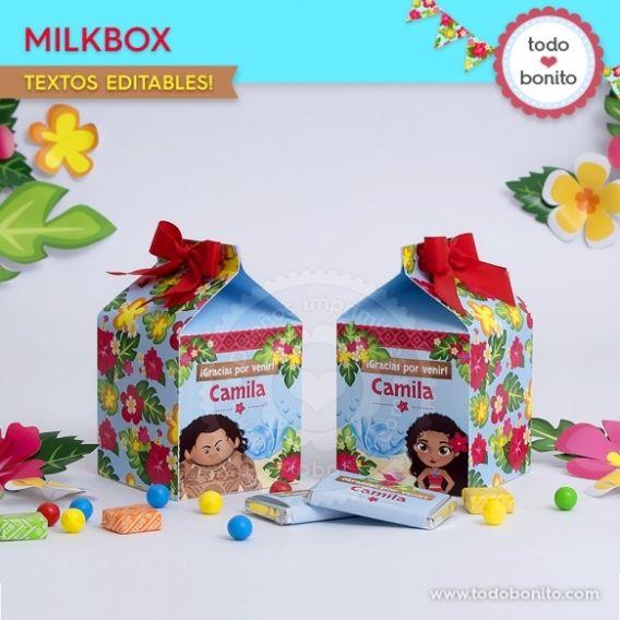 Caja MilkBox Kit imprimible Moana Todo Bonito