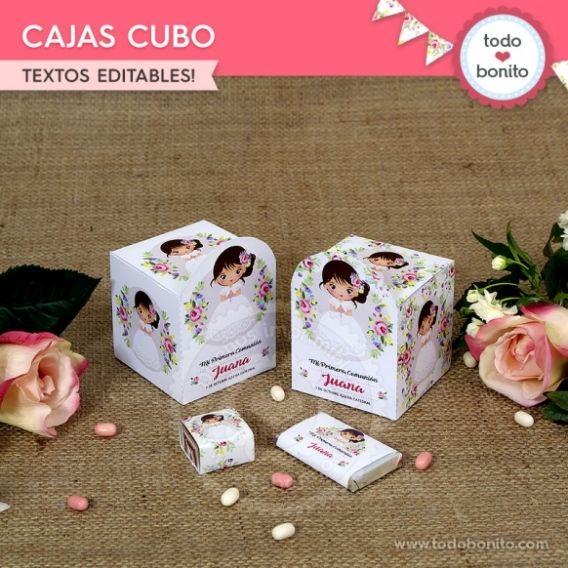 Caja Cubo imprimible Kit Juana por Todo Bonito