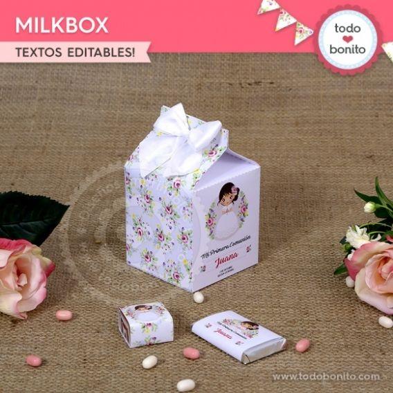 Caja MilkBox imprimible Kit Juana por Todo Bonito