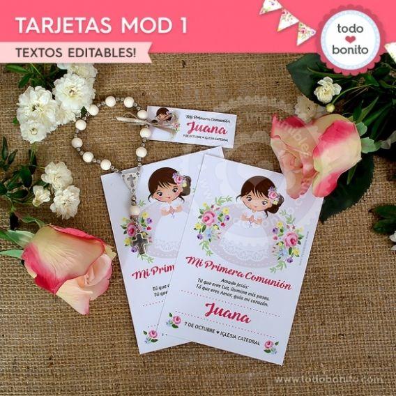 Tarjeta Modelo 1 imprimible Kit Juana por Todo Bonito