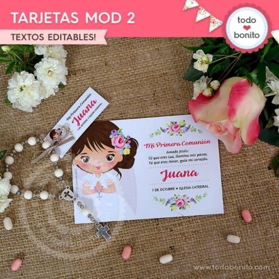 Tarjeta Modelo 2 imprimible Kit Juana por Todo Bonito