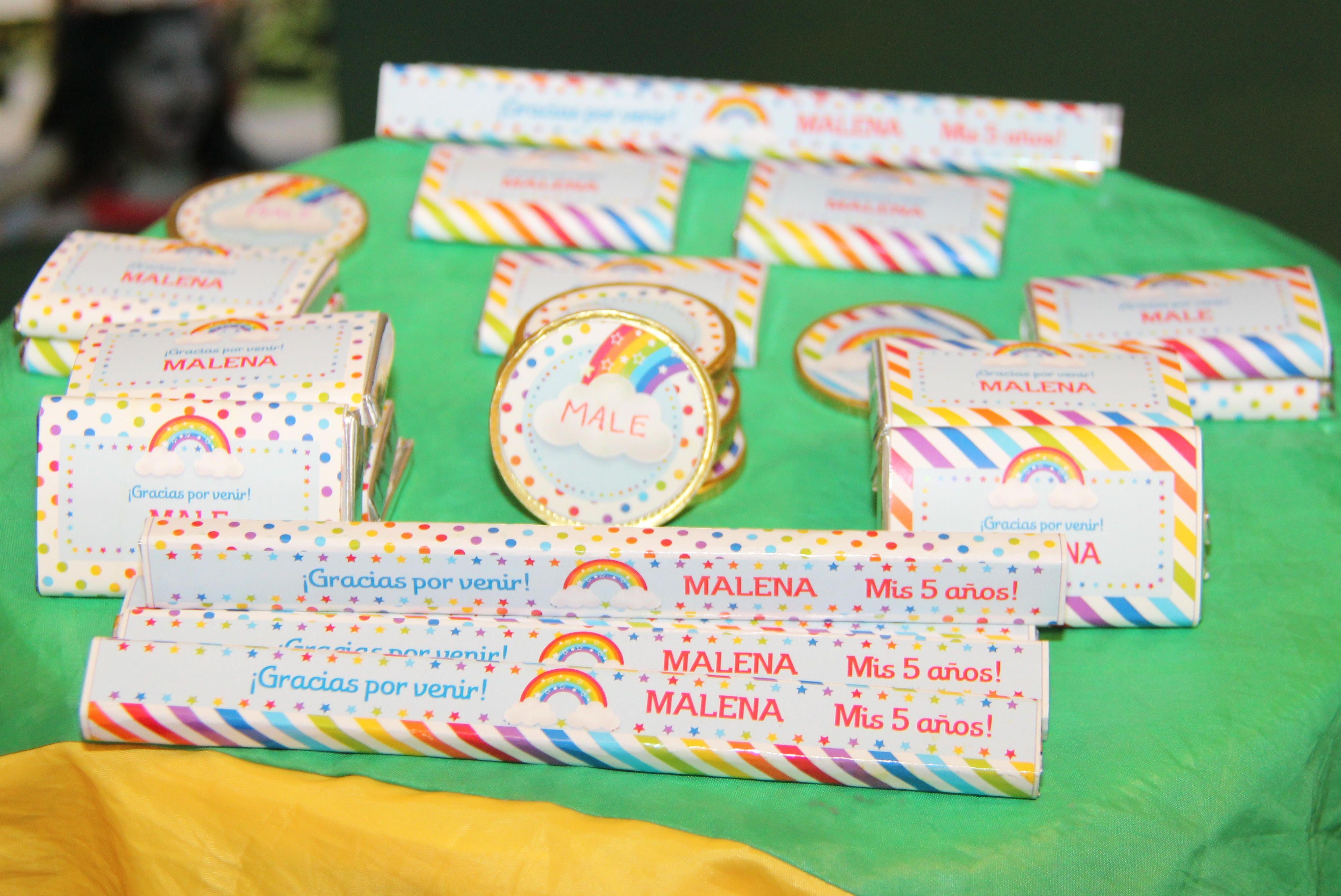 Golosinas decoradas Kit Imprimible Arco Iris