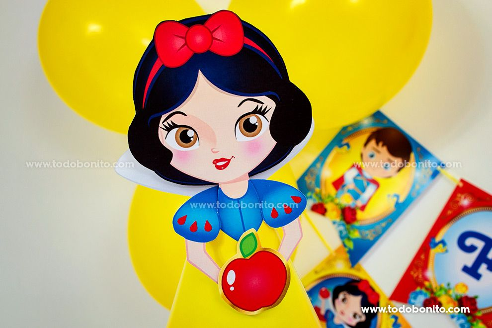Muñeca imprimible Kit Blancanieves Todo Bonito