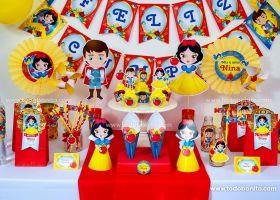Hermosas decoraciones de Blanca Nieves para imprimir y decorar tu fiesta