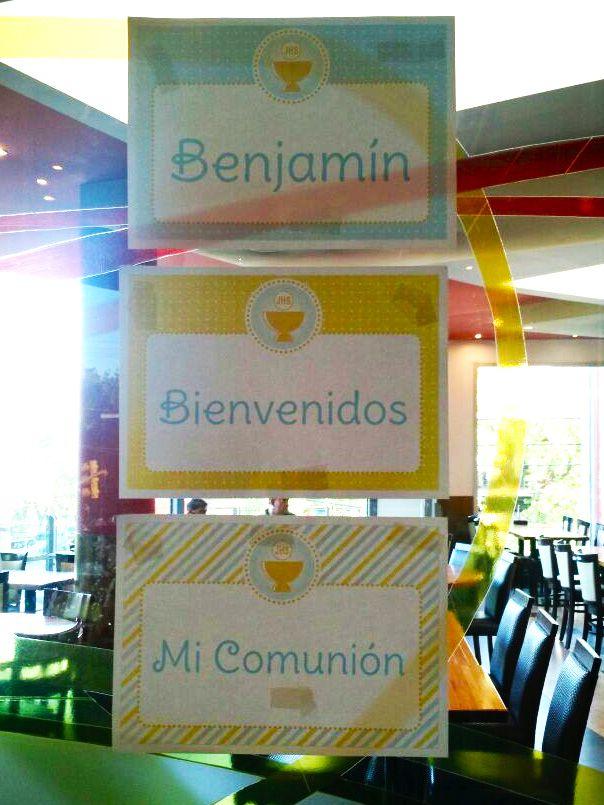 Benjamin y el cáliz de su Primera Comunión