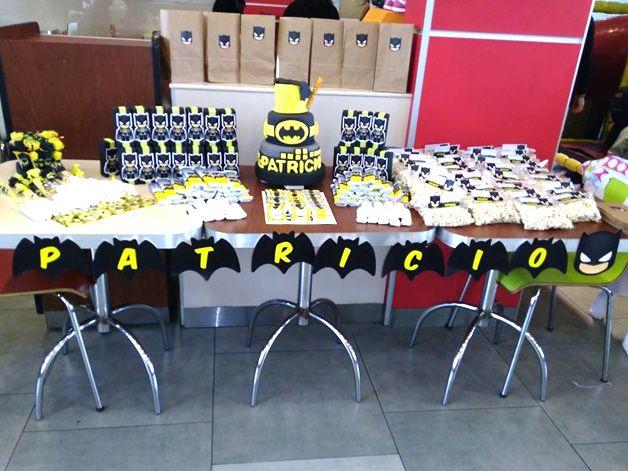 Mesa dulce con imprimibles Batman