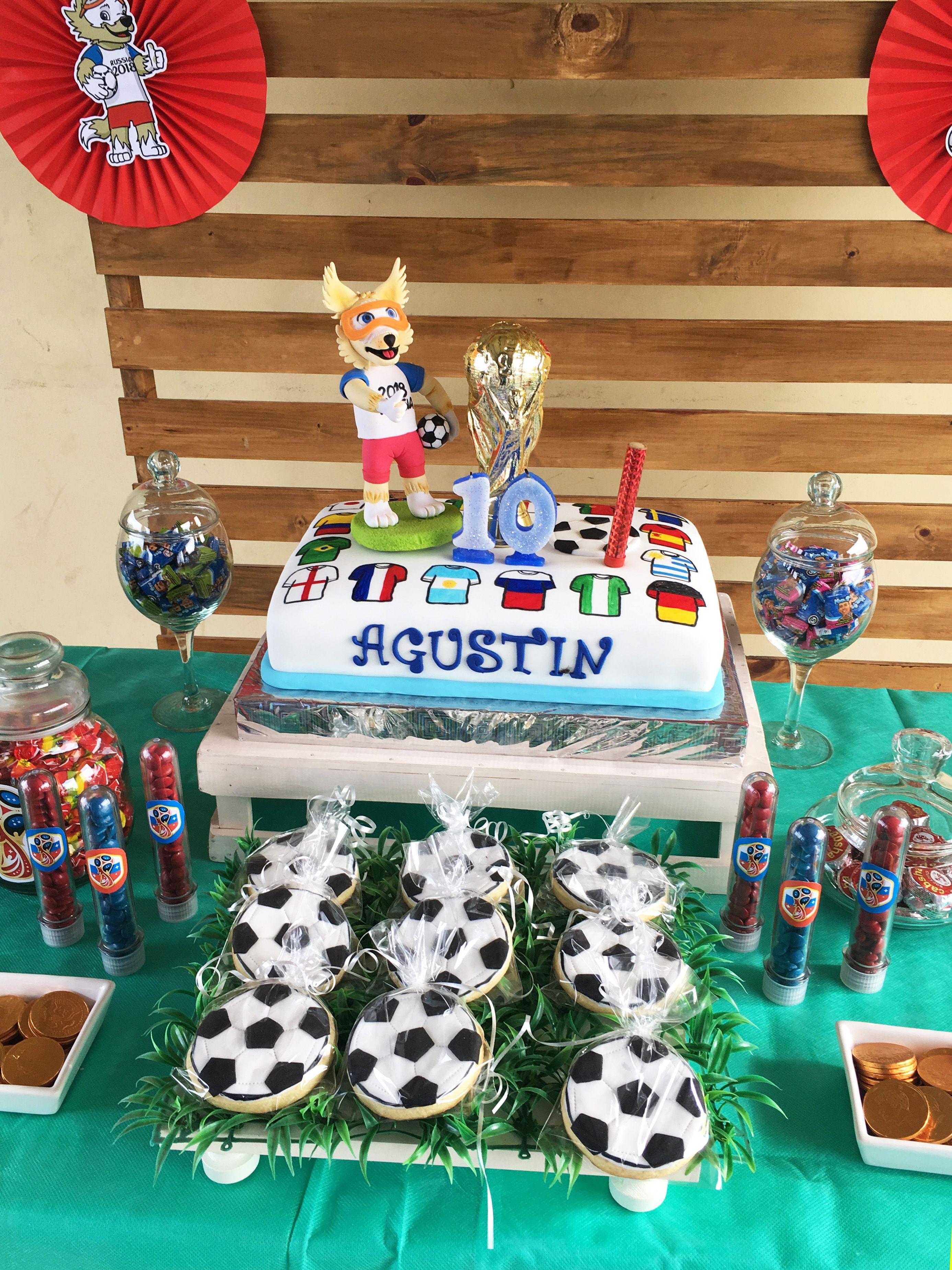 Torta y galles cumple Agustin del Mundial Rusia 2018 Todo Bonito