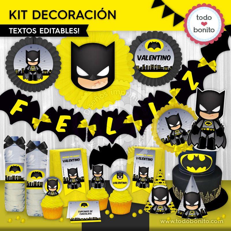 Ideas Geniales Para Cumpleanos De Batman Todo Bonito