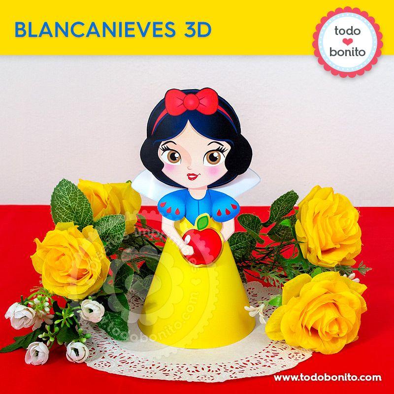 Muñeca 3D imprimible de Blancanieves por Todo Bonito