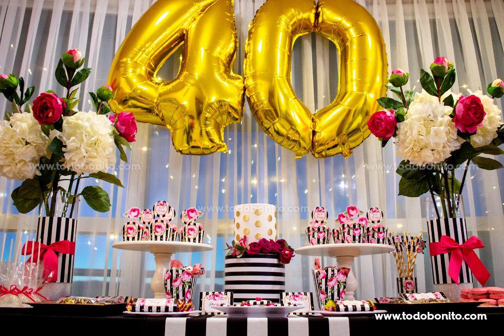Mesa dulce 40 años por Todo Bonito