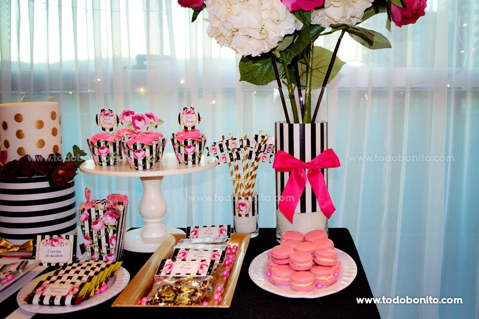 Ideas mesa dulce fiesta de 40 años por Todo Bonito