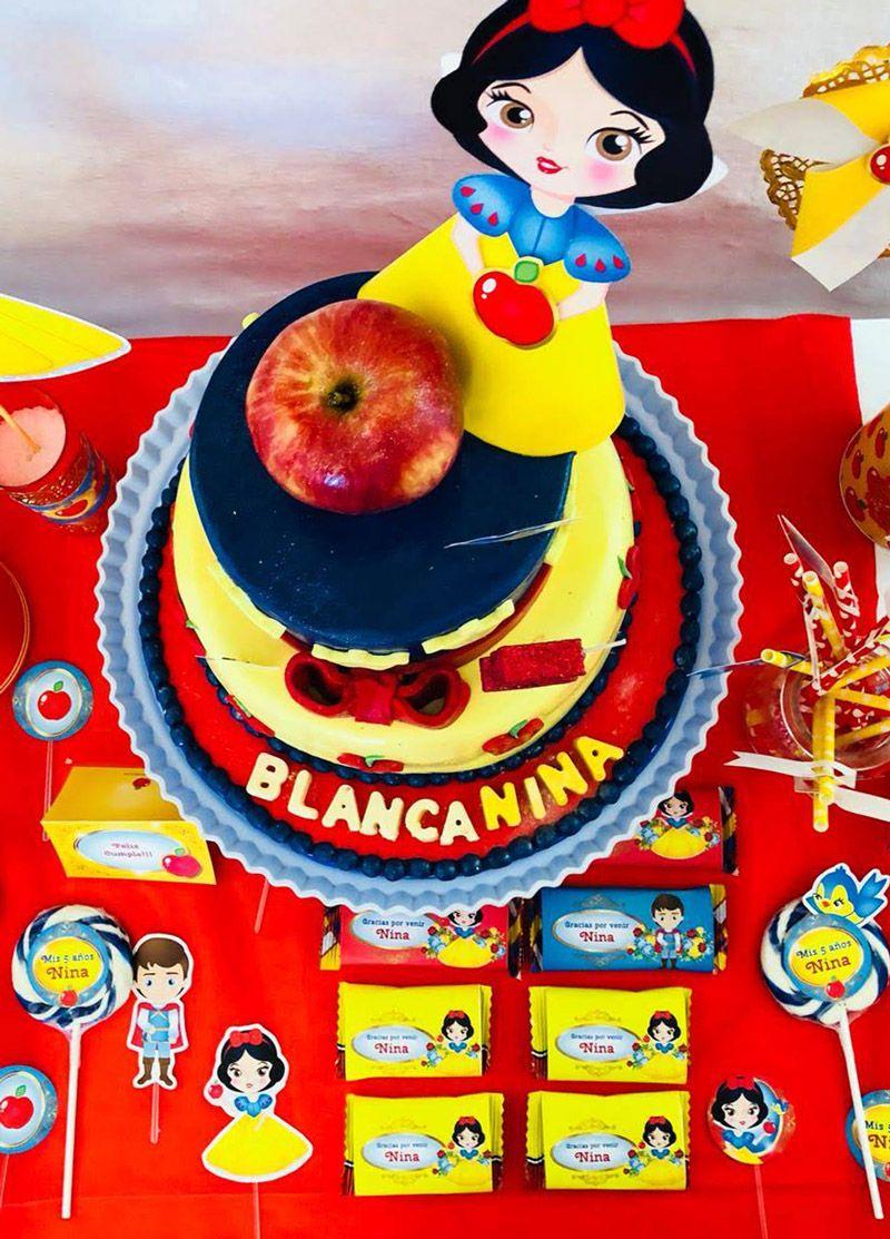 Original Torta con Manzana Imprimibles Blanca Nieves Todo Bonito