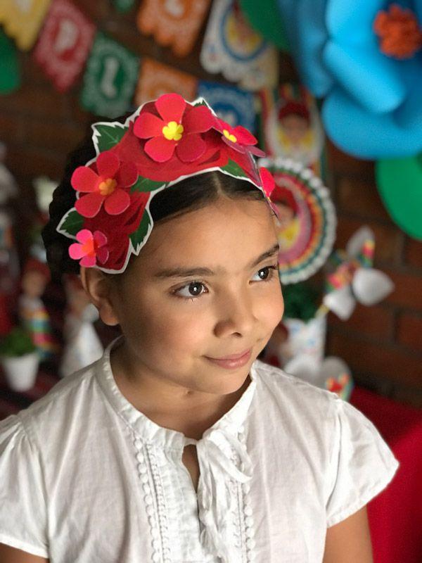 Corona de flores Frida Kahlo para imprimir