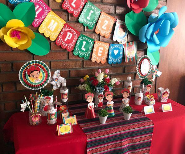 Ideas cumpleaños de Frida Kahlo por Todo Bonito