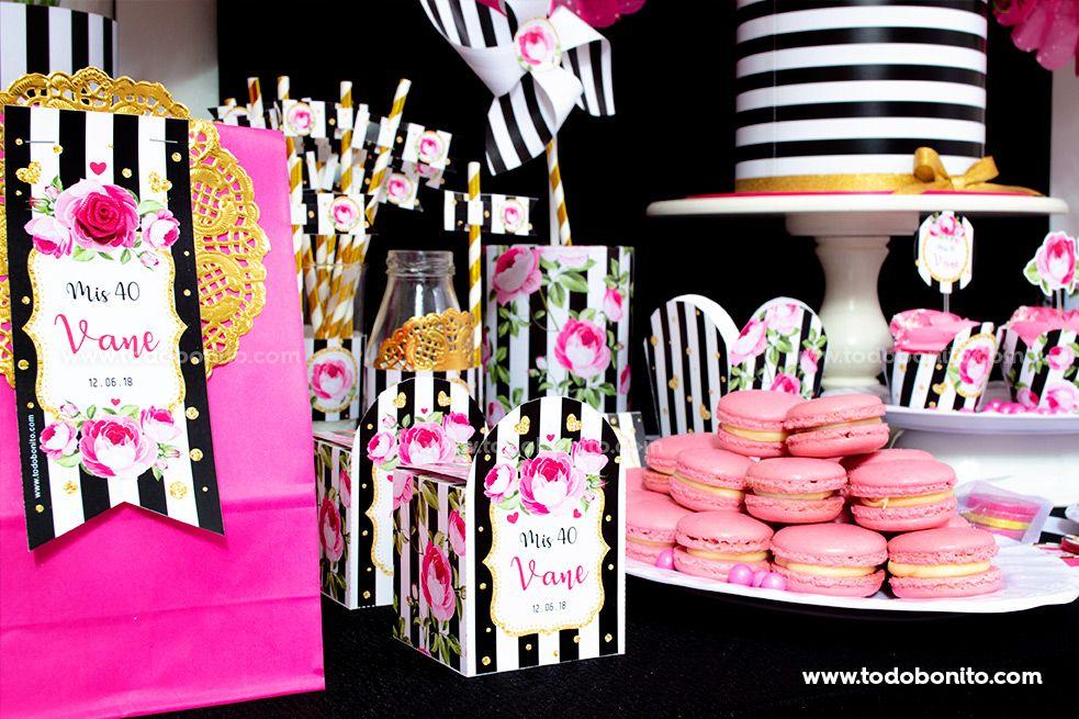 Mesa dulce inspirada en Kate Spade