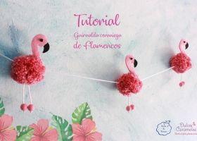 Hermosa guirnalda de flamencos