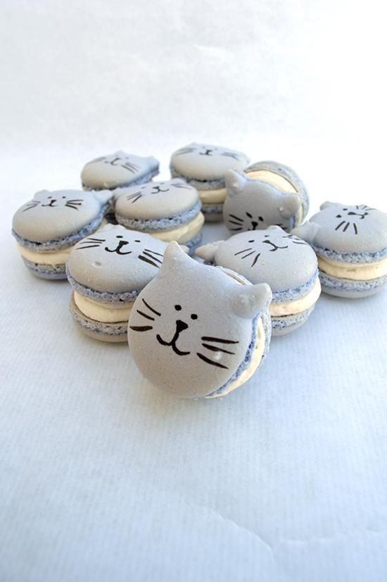 Macarons de gatitos