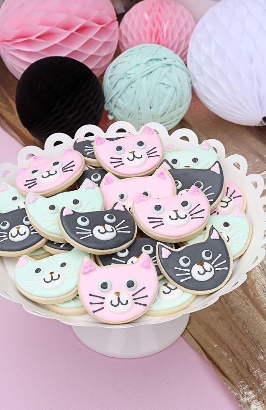 Galletas decoradas temática gatitos