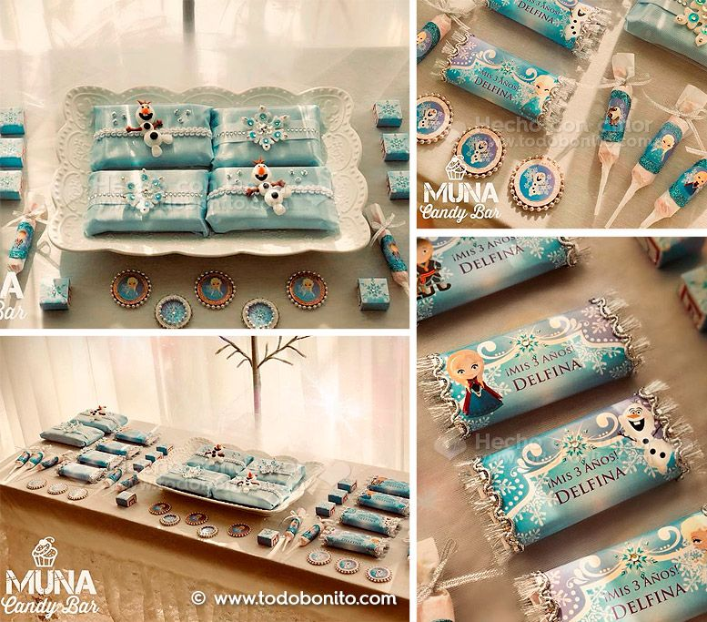 Kit Imprimible Frozen Todo Bonito by Muna Candy Bar
