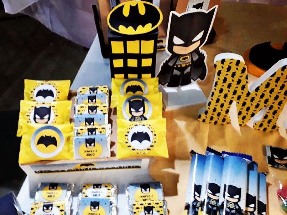 Golosinas decoradas Cumpleaños Kit imprimible Batman Todo Bonito