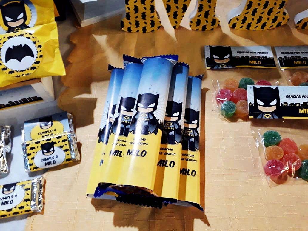Golosinas Mesa cumpleaños Kit Batman Todo Bonito