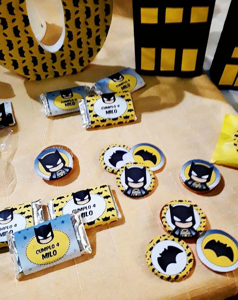 Golosinas decoradas Kit imprimible Batman Todo Bonito