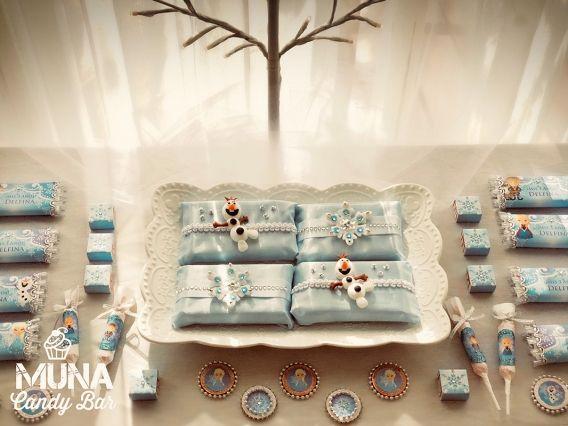 Kit imprimible de Frozen en un cumple de lujo By Muna Candy Bar