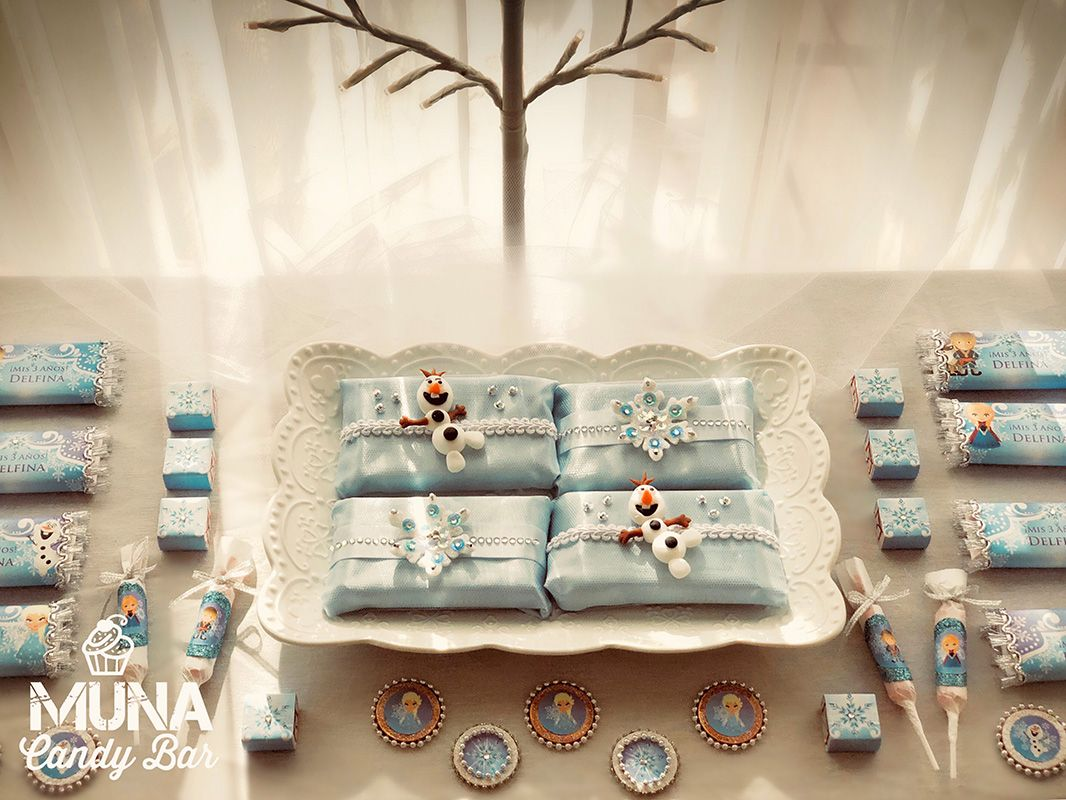 Mesa dulce decorada con Kit Imprimible Frozen Todo Bonito
