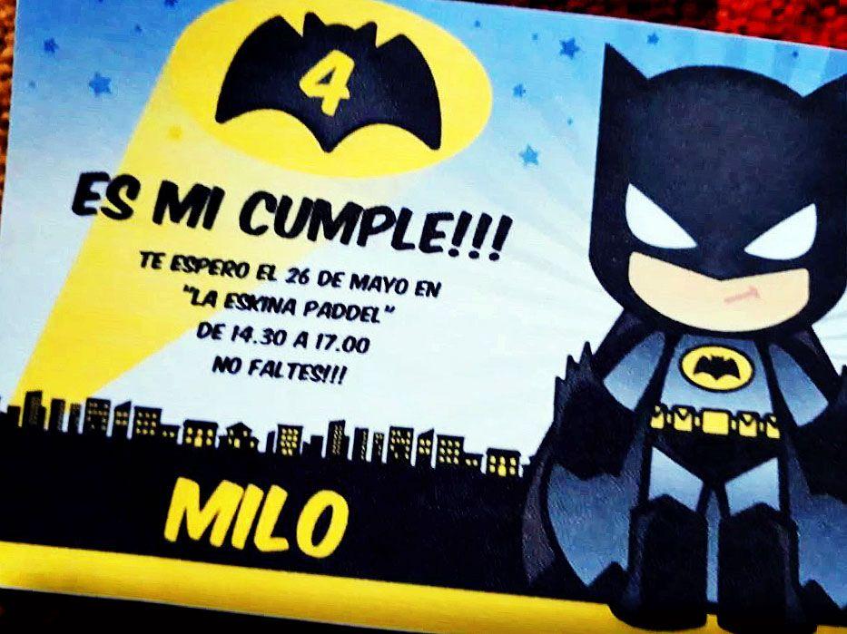 Invitación para imprimir de Batman por Todo Bonito