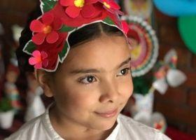 Justina, sus 10 años y su deco de Frida